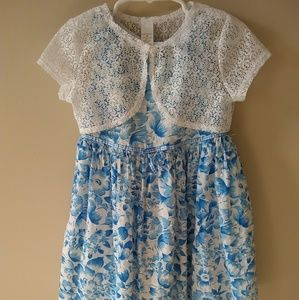 George Toddler Girls Floral Dress with Shr…